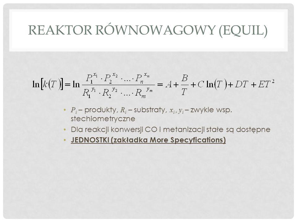 Reaktor równowagowy (equil)