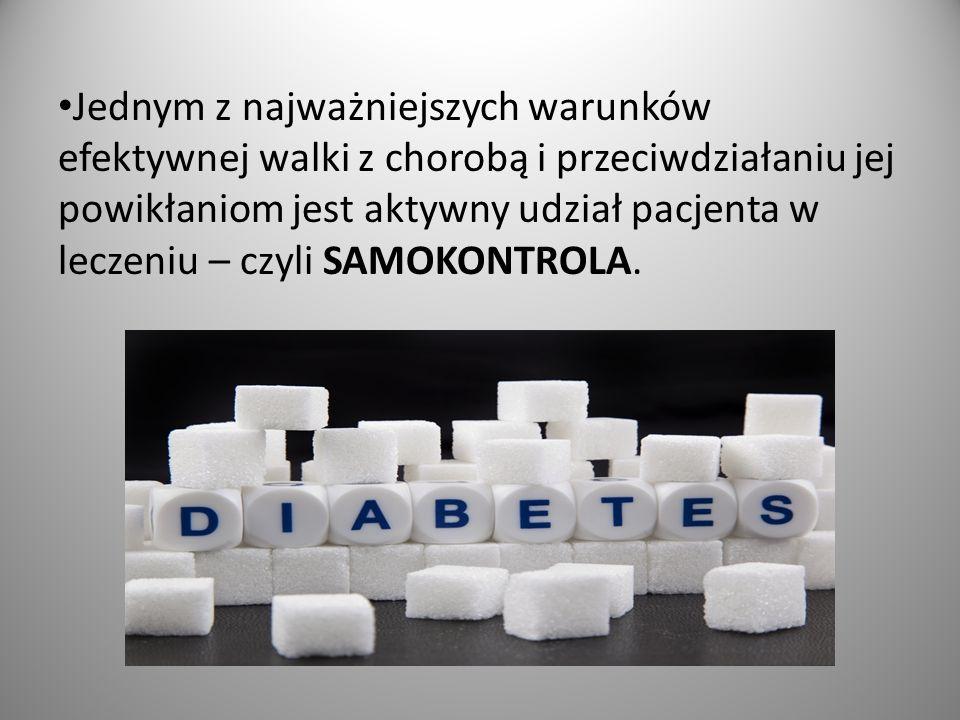 Jednym z najważniejszych warunków efektywnej walki z chorobą i przeciwdziałaniu jej powikłaniom jest aktywny udział pacjenta w leczeniu – czyli SAMOKONTROLA.