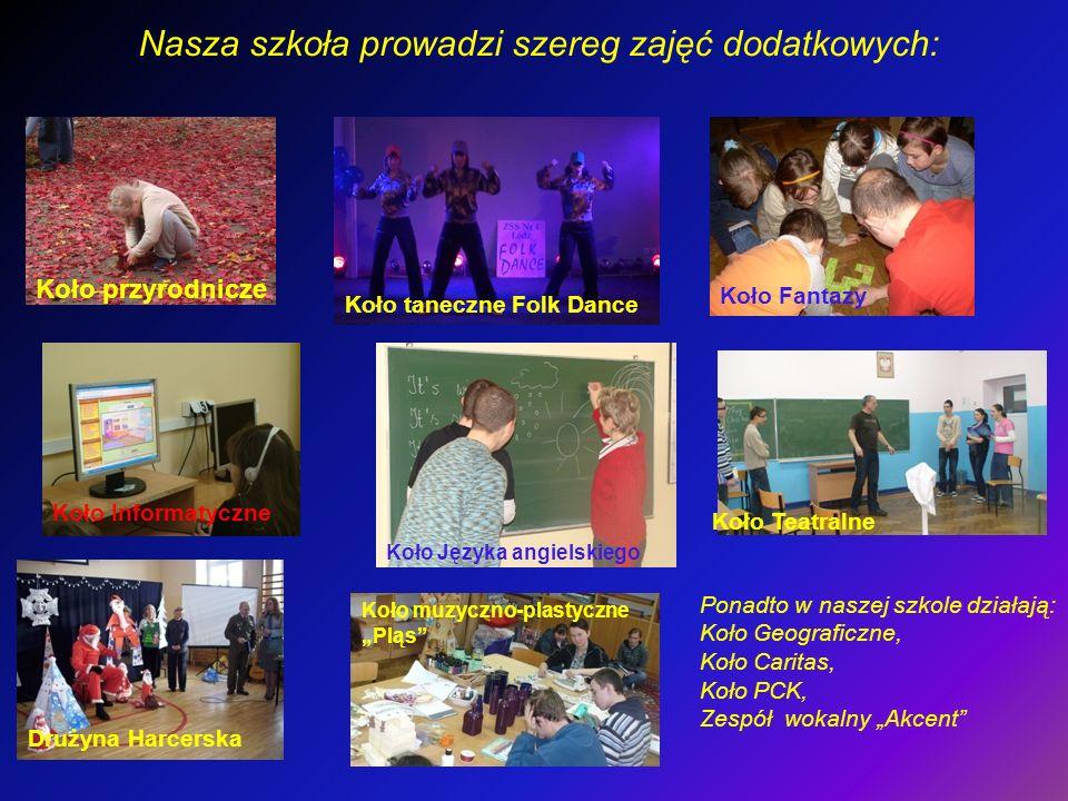 Nasza szkoła prowadzi szereg zajęć dodatkowych: