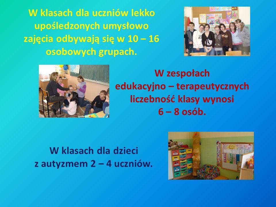 W klasach dla uczniów lekko upośledzonych umysłowo