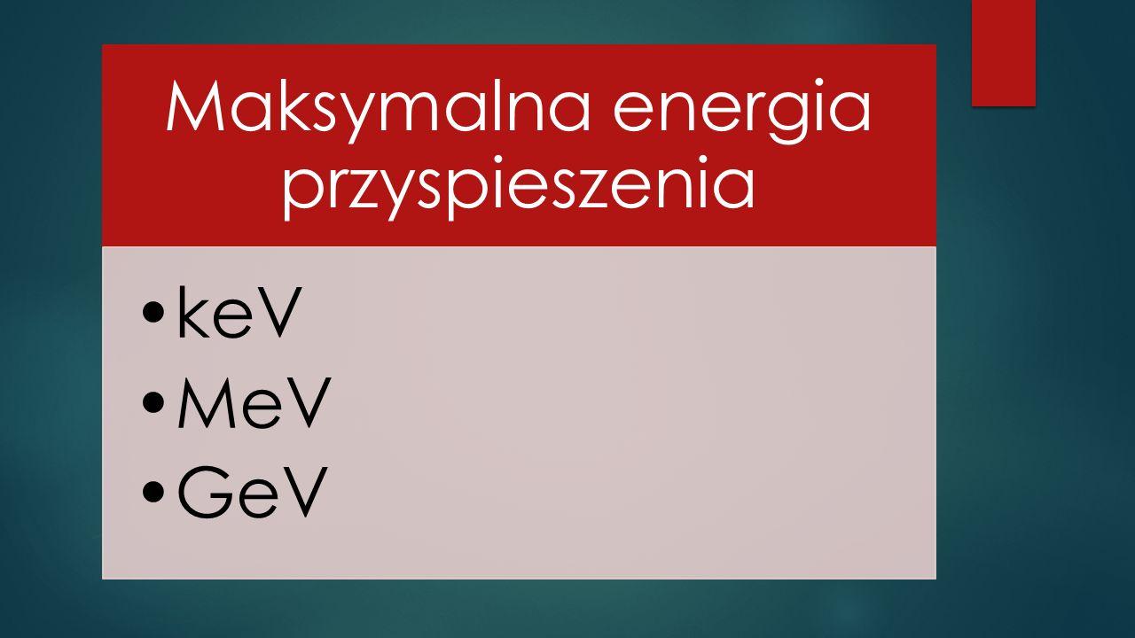 Maksymalna energia przyspieszenia