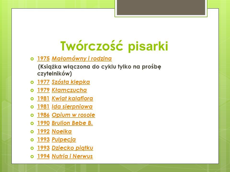 Twórczość pisarki 1975 Małomówny i rodzina
