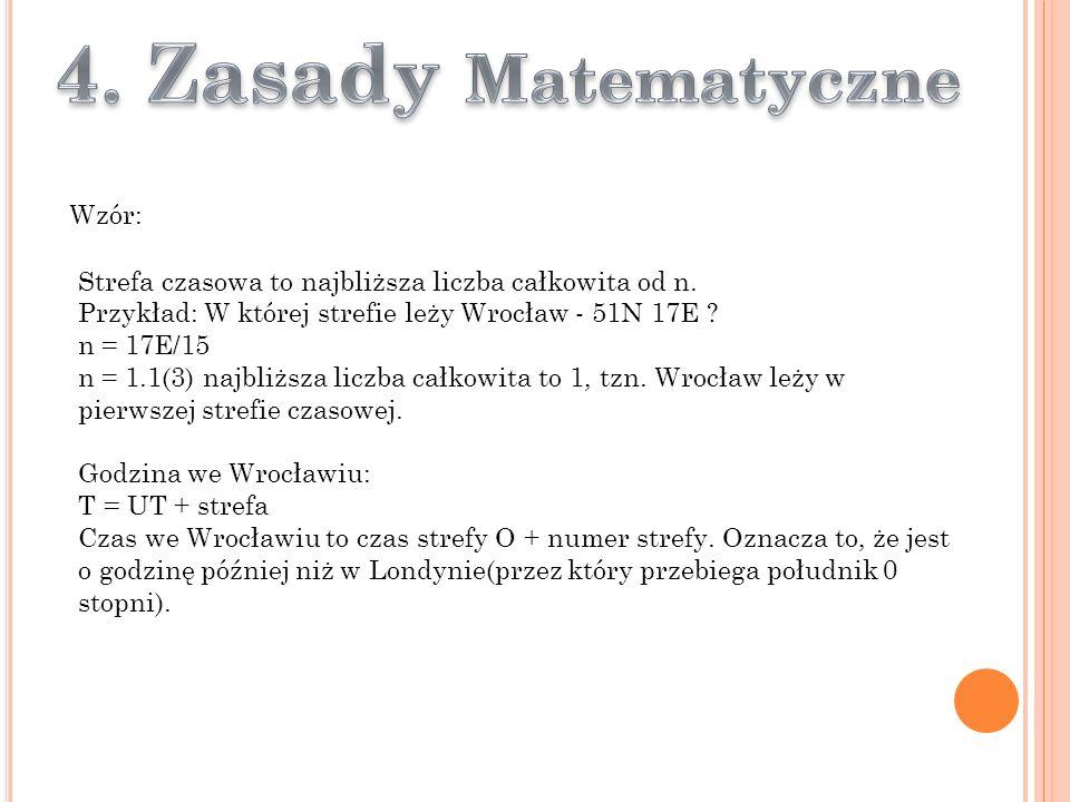 4. Zasady Matematyczne Wzór:
