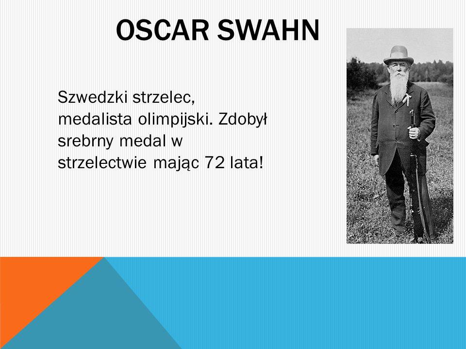 Oscar swahn Szwedzki strzelec, medalista olimpijski.
