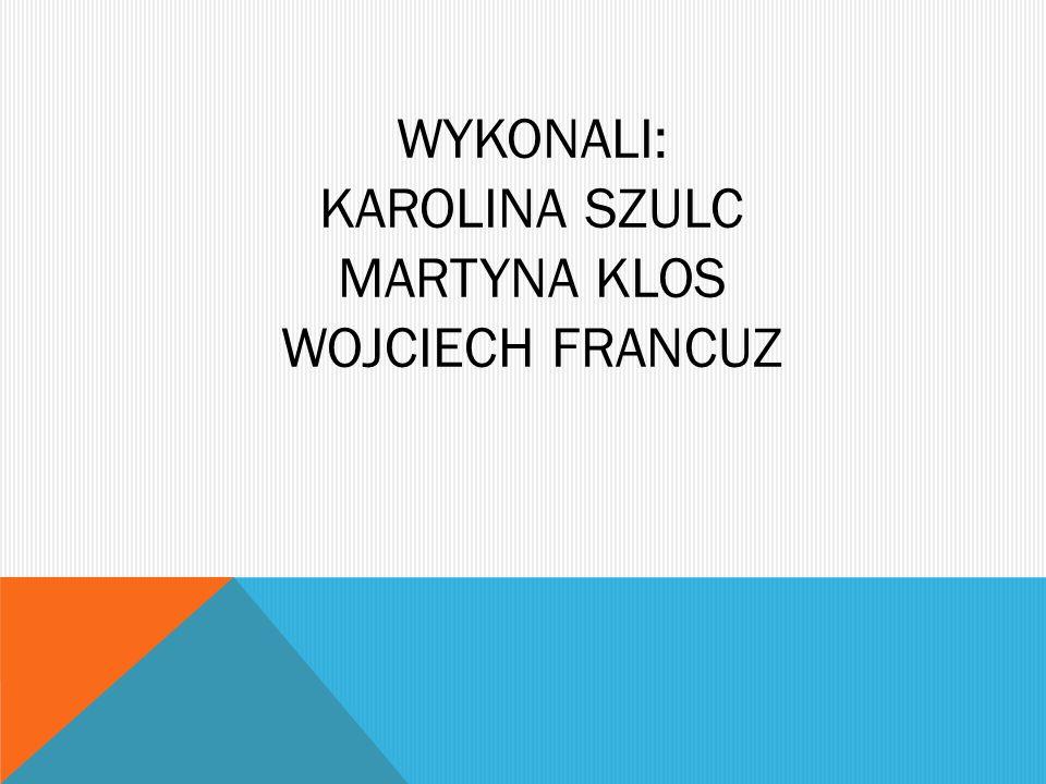 WYKONALI: KAROLINA SZULC MARTYNA KLOS WOJCIECH FRANCUZ