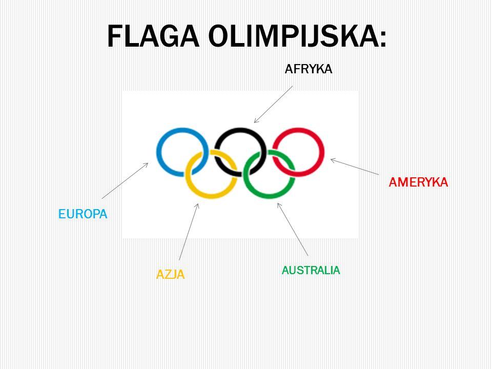 flaga olimpijska: AFRYKA AMERYKA EUROPA AUSTRALIA AZJA
