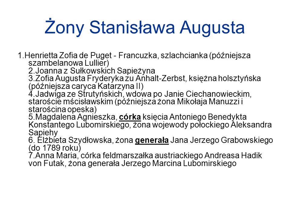Żony Stanisława Augusta