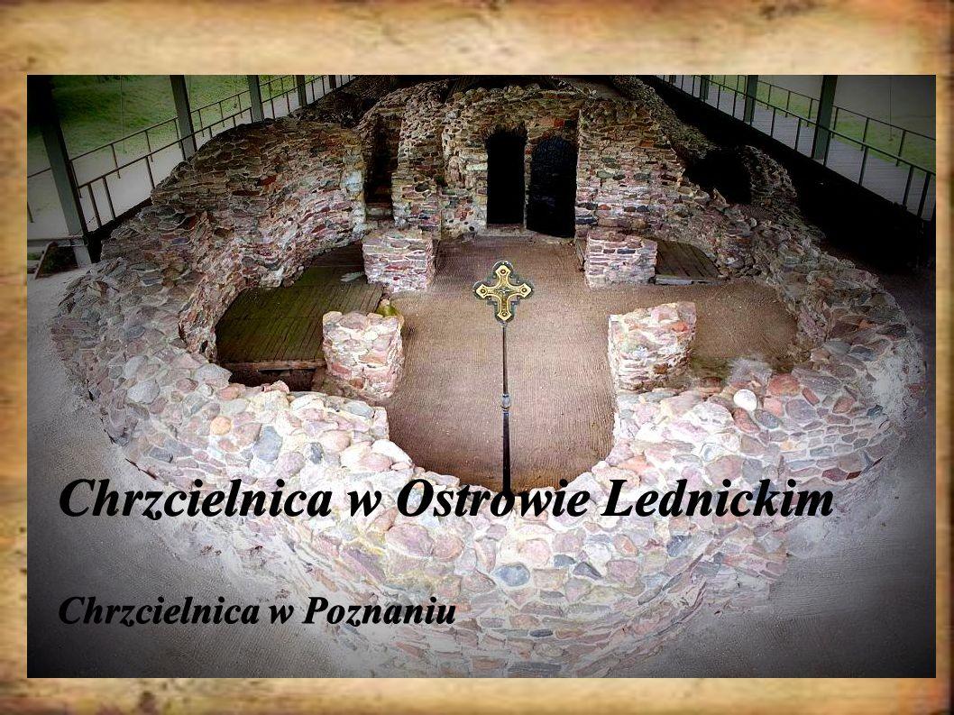 Chrzcielnica w Ostrowie Lednickim