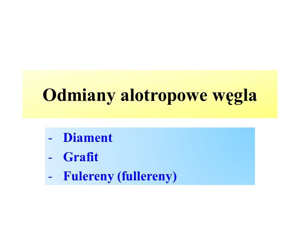 Odmiany alotropowe węgla