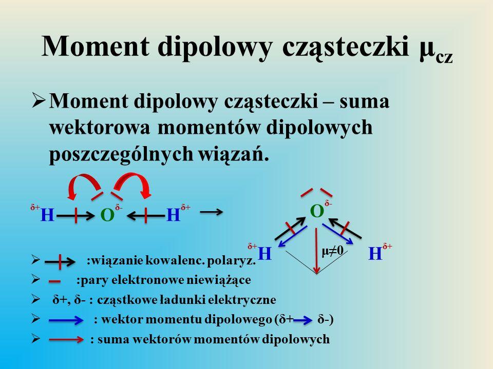 Moment dipolowy cząsteczki μcz