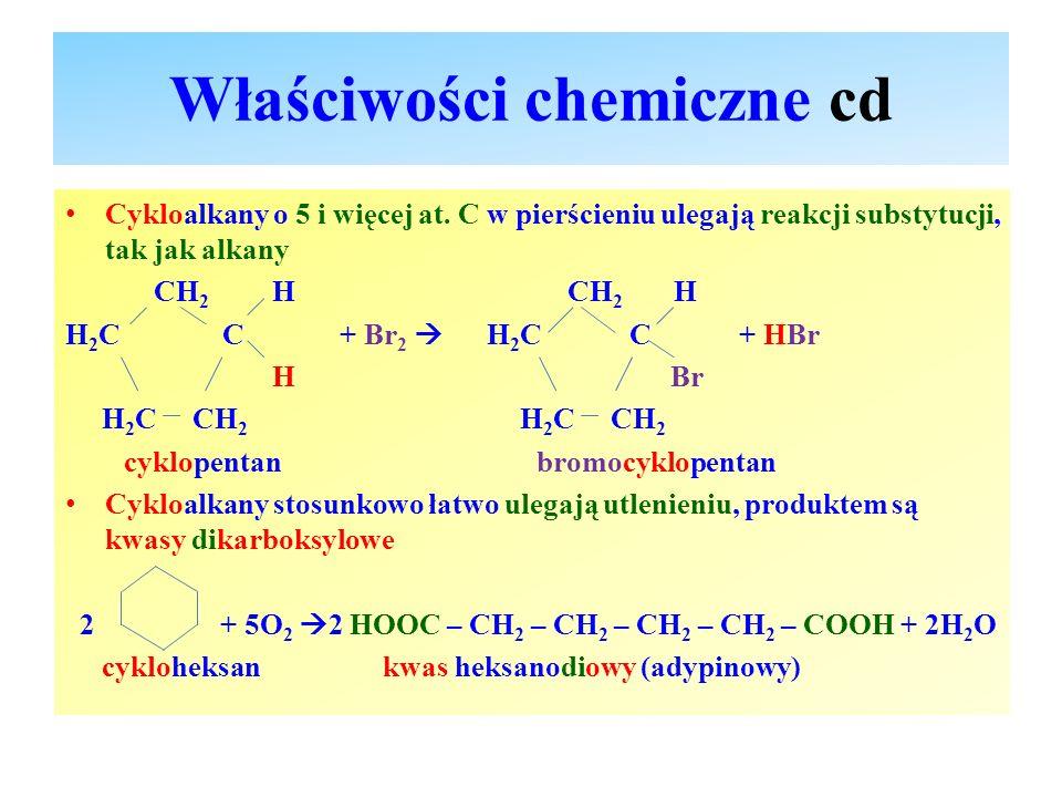 Właściwości chemiczne cd