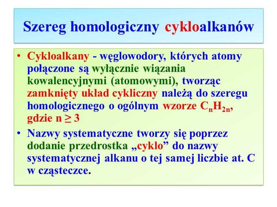 Szereg homologiczny cykloalkanów