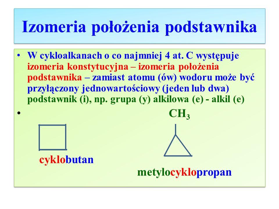 Izomeria położenia podstawnika