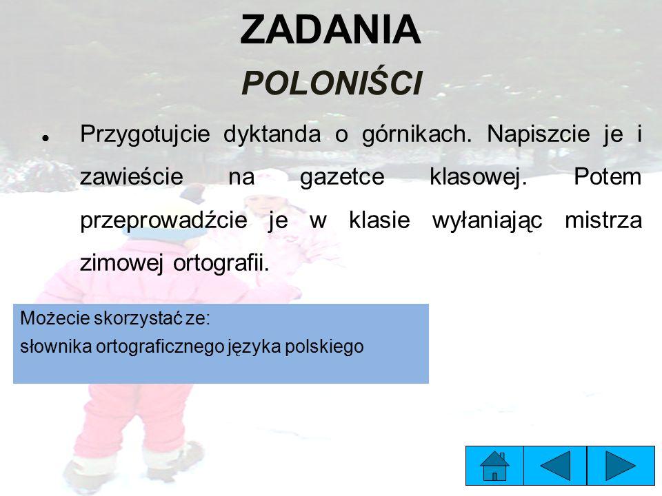 ZADANIA POLONIŚCI.