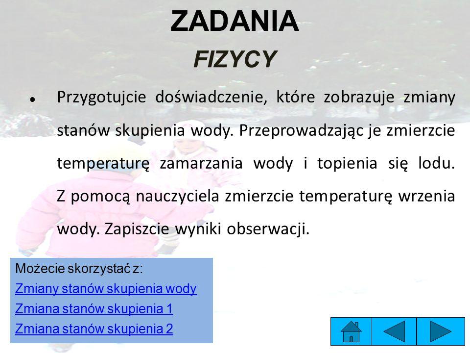 ZADANIA FIZYCY.