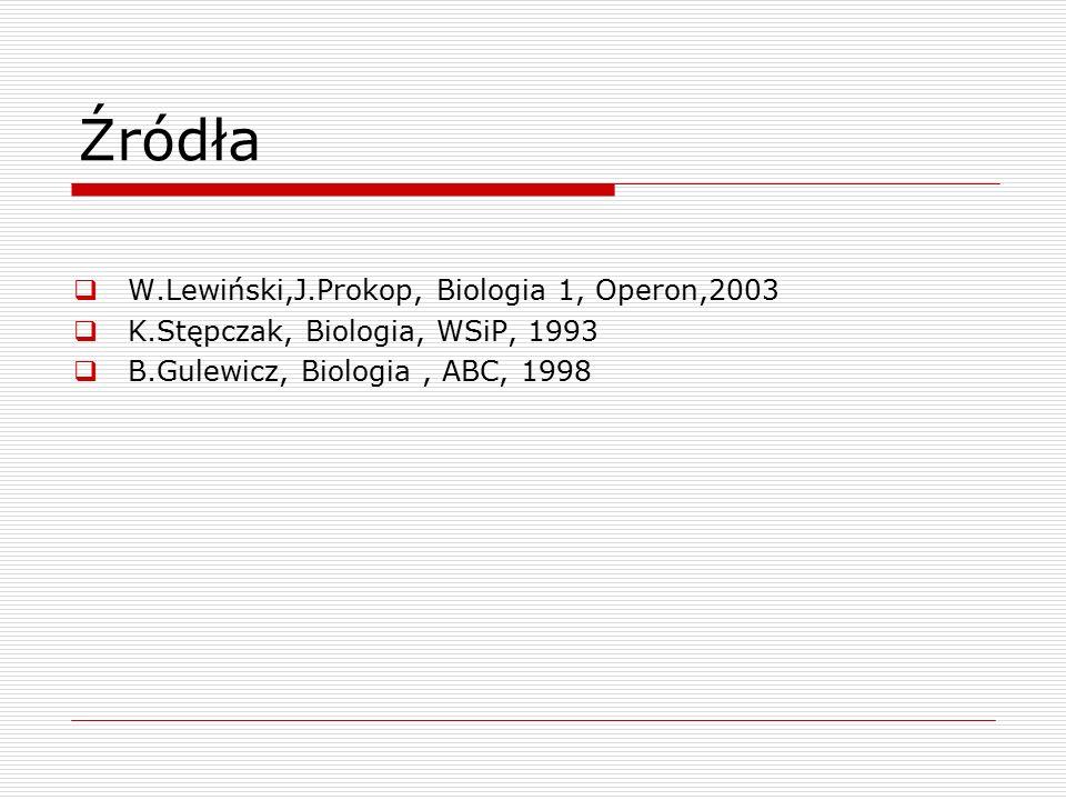 Źródła W.Lewiński,J.Prokop, Biologia 1, Operon,2003