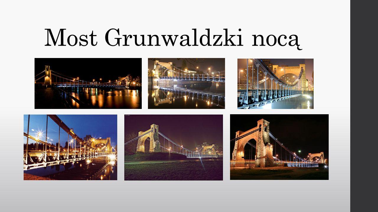 Most Grunwaldzki nocą