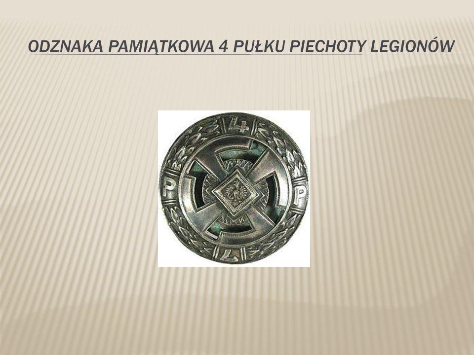 Odznaka pamiątkowa 4 pułku piechoty legionów