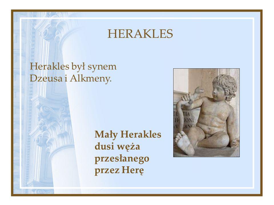 Mały Herakles dusi węża przesłanego przez Herę