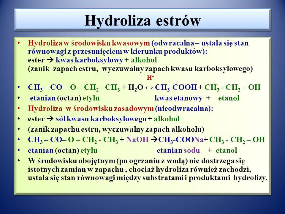 Hydroliza estrów