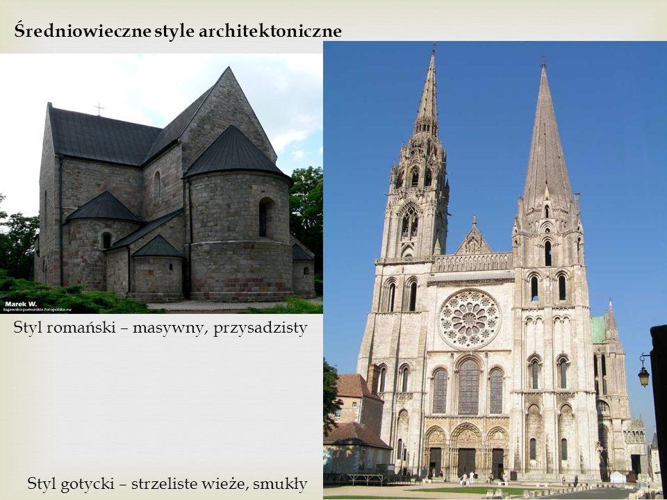 Średniowieczne style architektoniczne