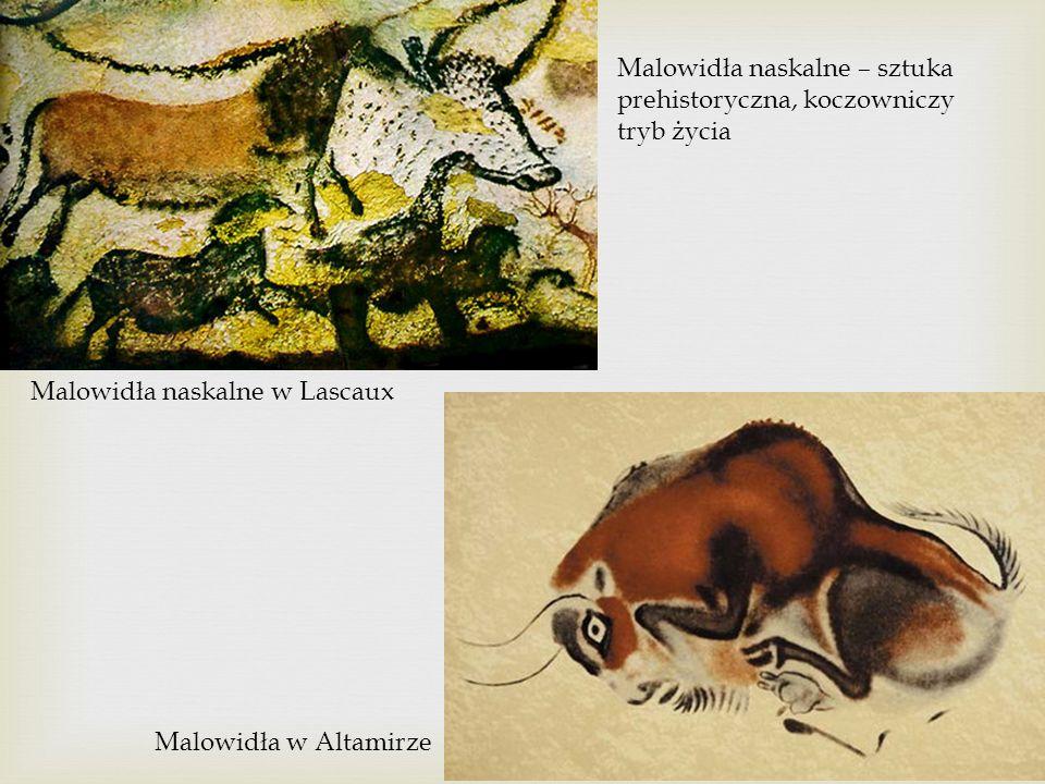 Malowidła naskalne – sztuka prehistoryczna, koczowniczy tryb życia