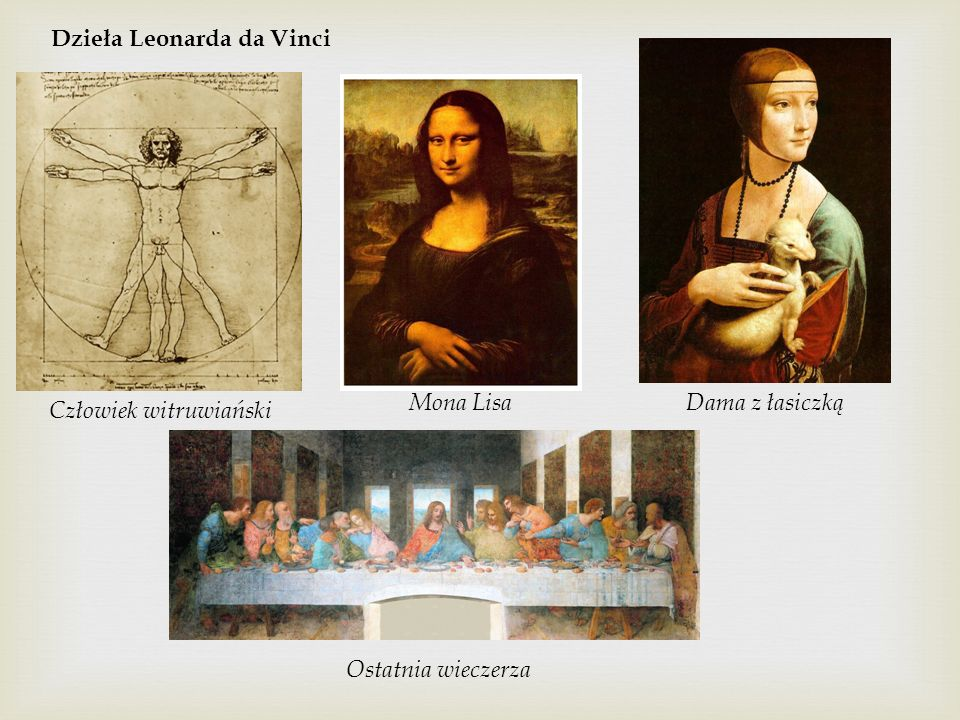 Dzieła Leonarda da Vinci