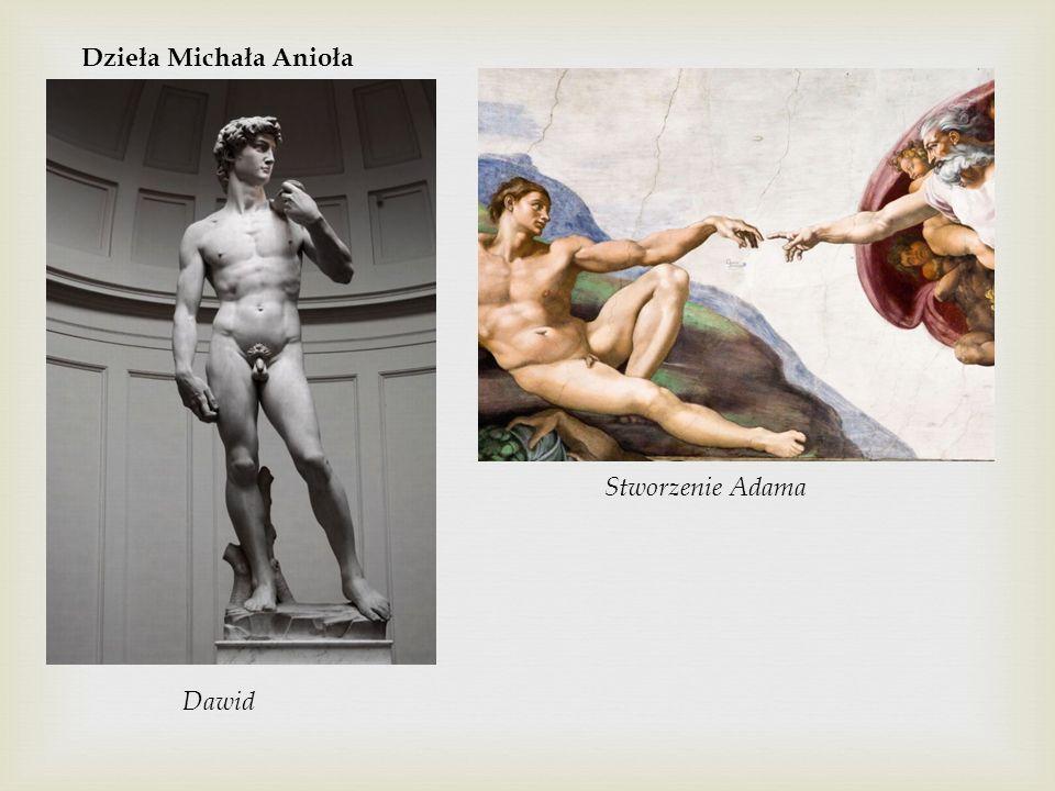 Dzieła Michała Anioła Stworzenie Adama Dawid