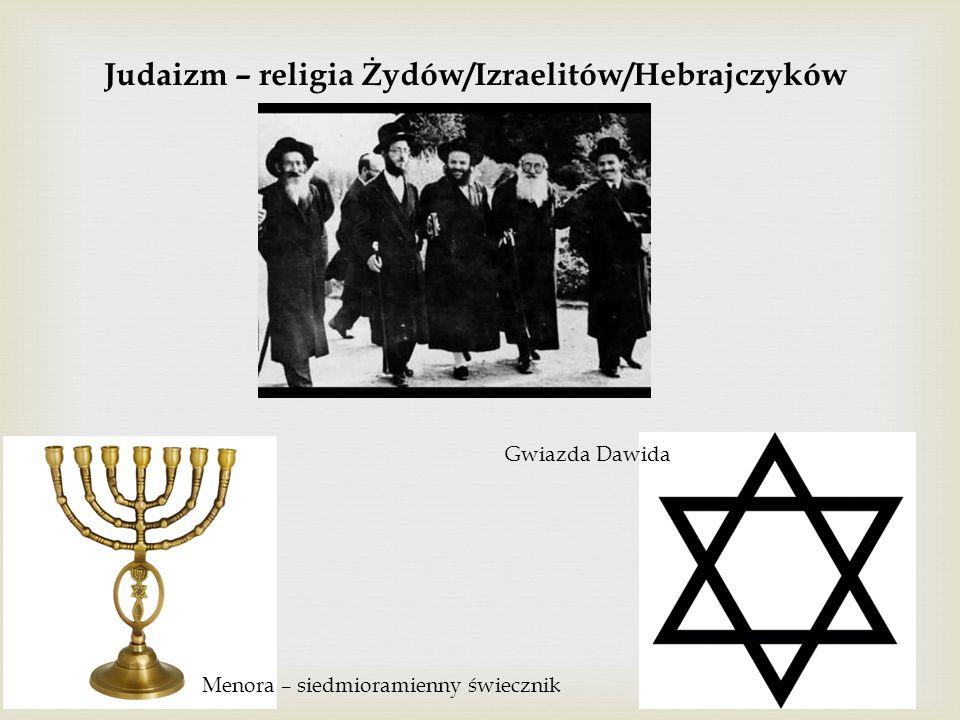 Judaizm – religia Żydów/Izraelitów/Hebrajczyków