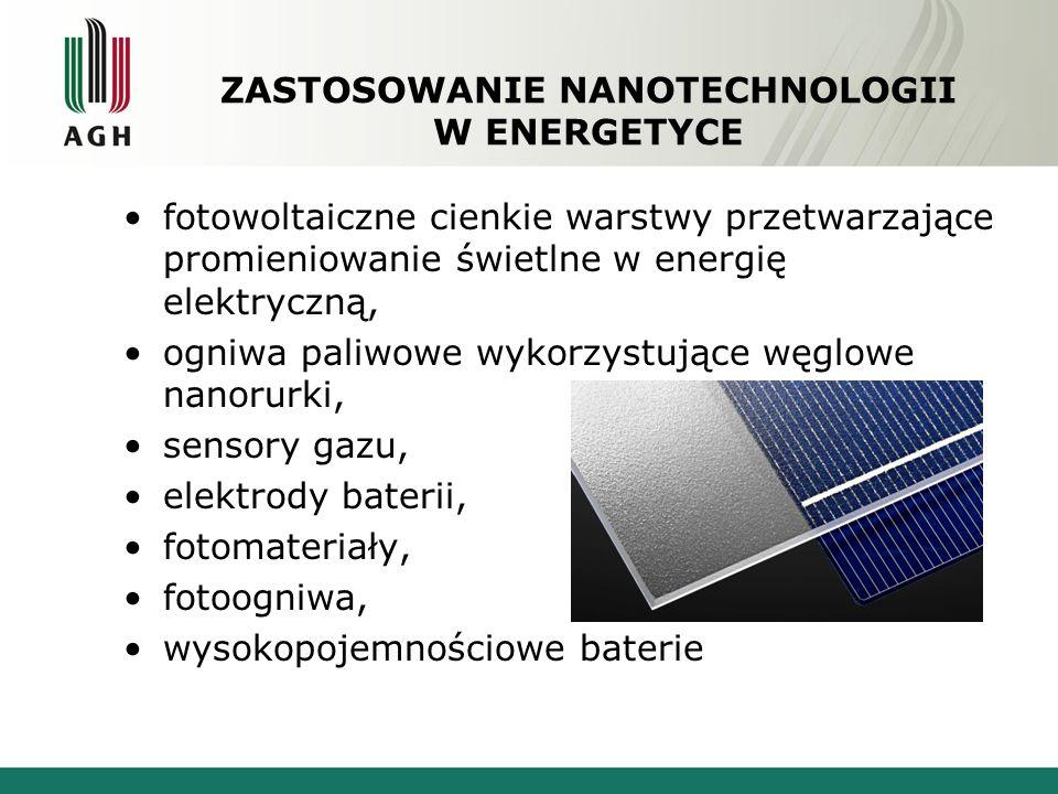 ZASTOSOWANIE NANOTECHNOLOGII W ENERGETYCE