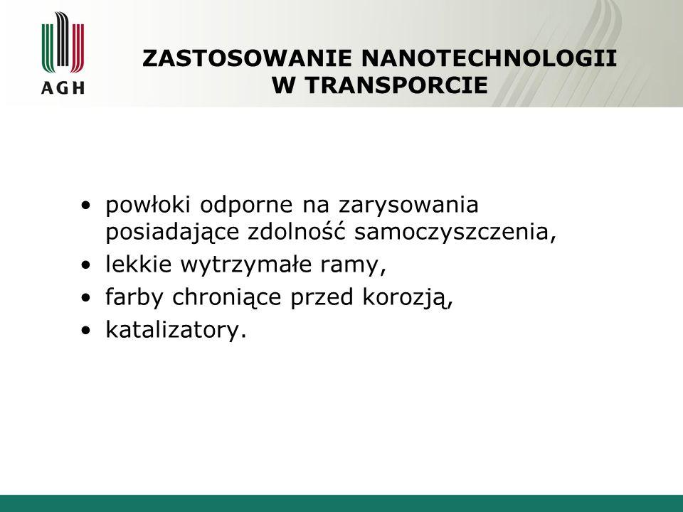 ZASTOSOWANIE NANOTECHNOLOGII W TRANSPORCIE