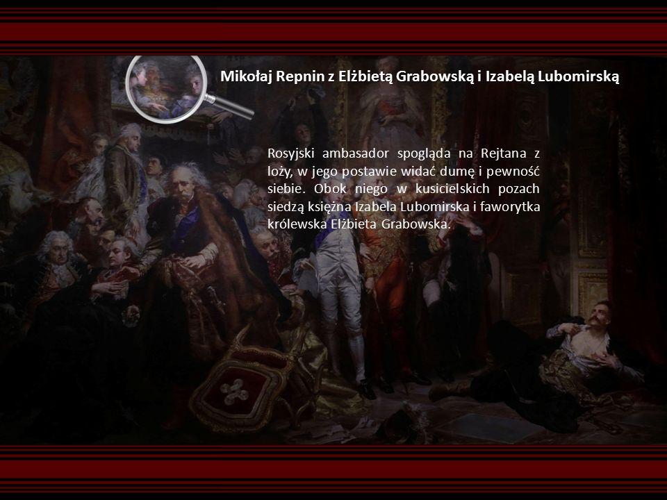 Mikołaj Repnin z Elżbietą Grabowską i Izabelą Lubomirską