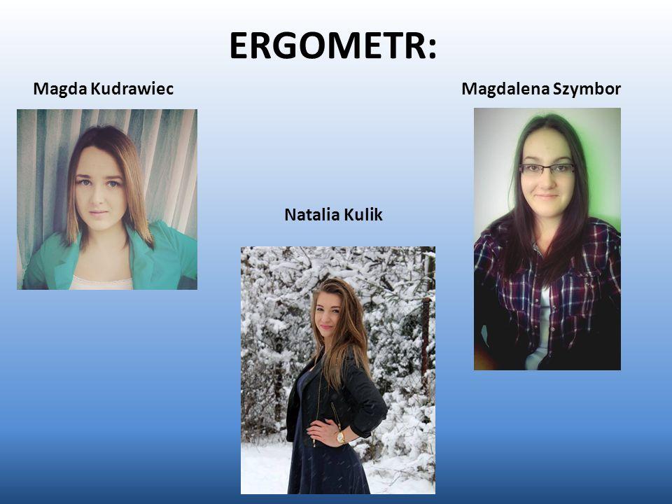 ERGOMETR: Magda Kudrawiec Magdalena Szymbor Natalia Kulik