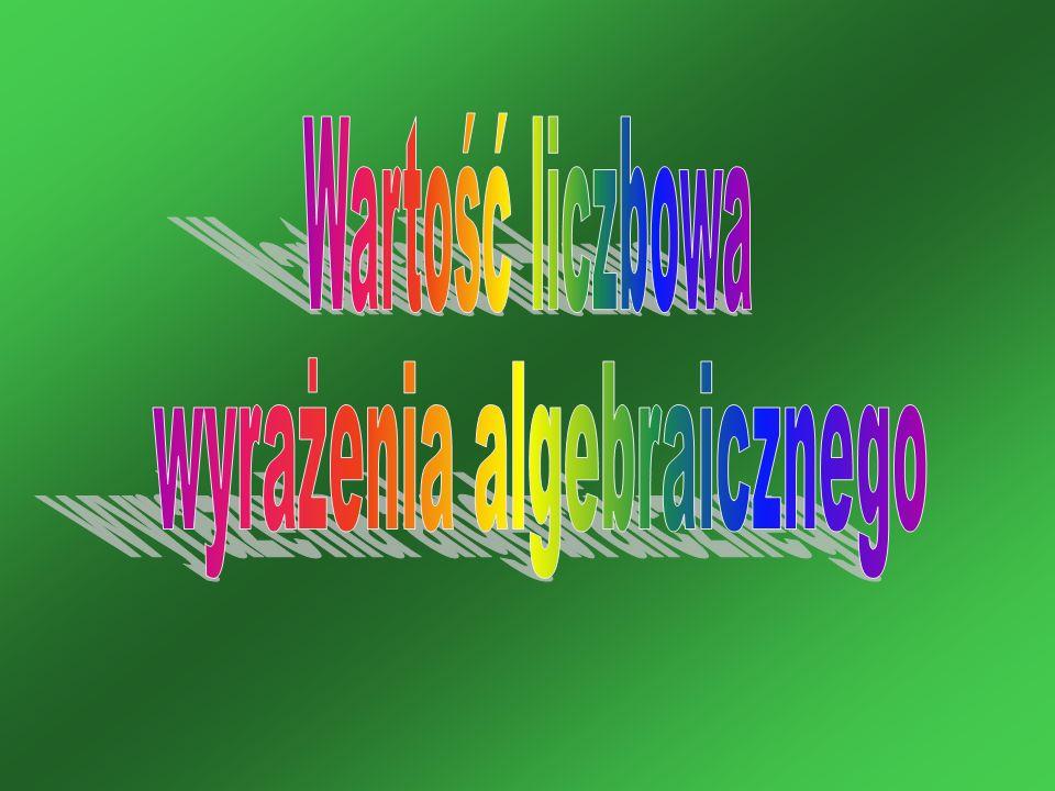 wyrażenia algebraicznego