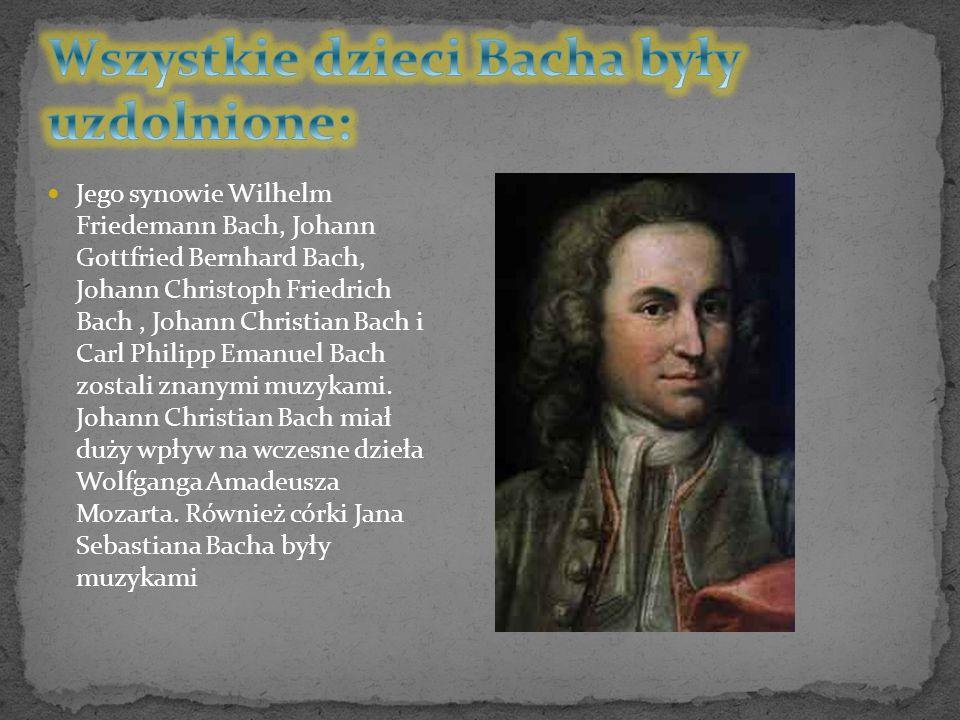 Wszystkie dzieci Bacha były uzdolnione: