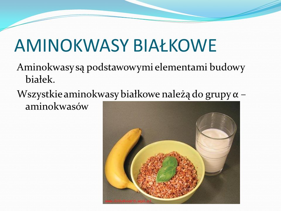 AMINOKWASY BIAŁKOWE Aminokwasy są podstawowymi elementami budowy białek.