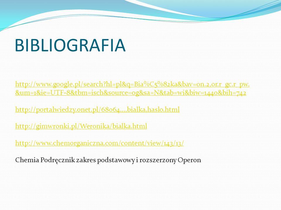 BIBLIOGRAFIA http://www.google.pl/search hl=pl&q=Bia%C5%82ka&bav=on.2,or.r_gc.r_pw.&um=1&ie=UTF-8&tbm=isch&source=og&sa=N&tab=wi&biw=1440&bih=742.