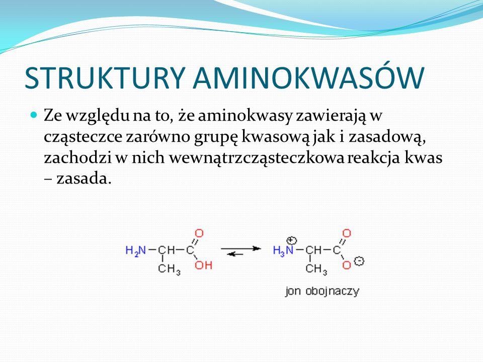 STRUKTURY AMINOKWASÓW