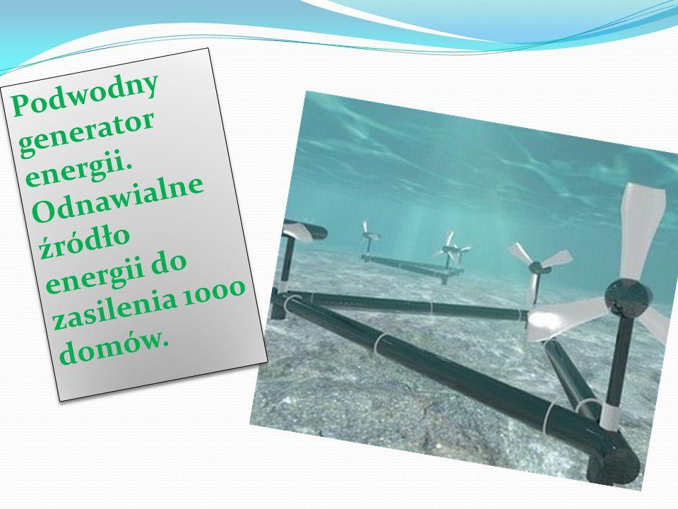Podwodny generator energii.