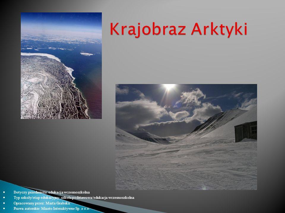 Krajobraz Arktyki Dotyczy przedmiotu: edukacja wczesnoszkolna