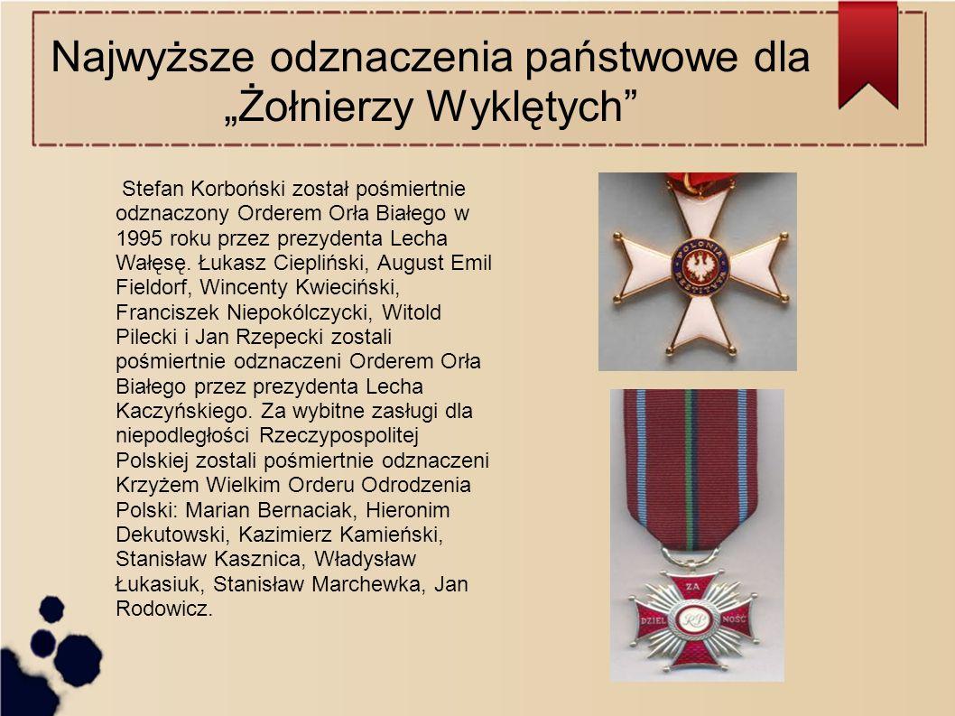 """Najwyższe odznaczenia państwowe dla """"Żołnierzy Wyklętych"""