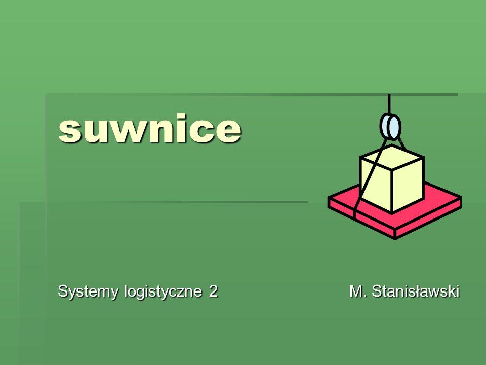 Systemy logistyczne 2 M. Stanisławski