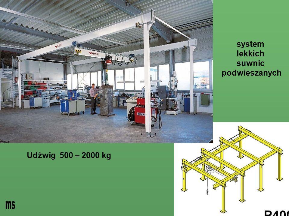 - system lekkich suwnic podwieszanych Udźwig 500 – 2000 kg ms