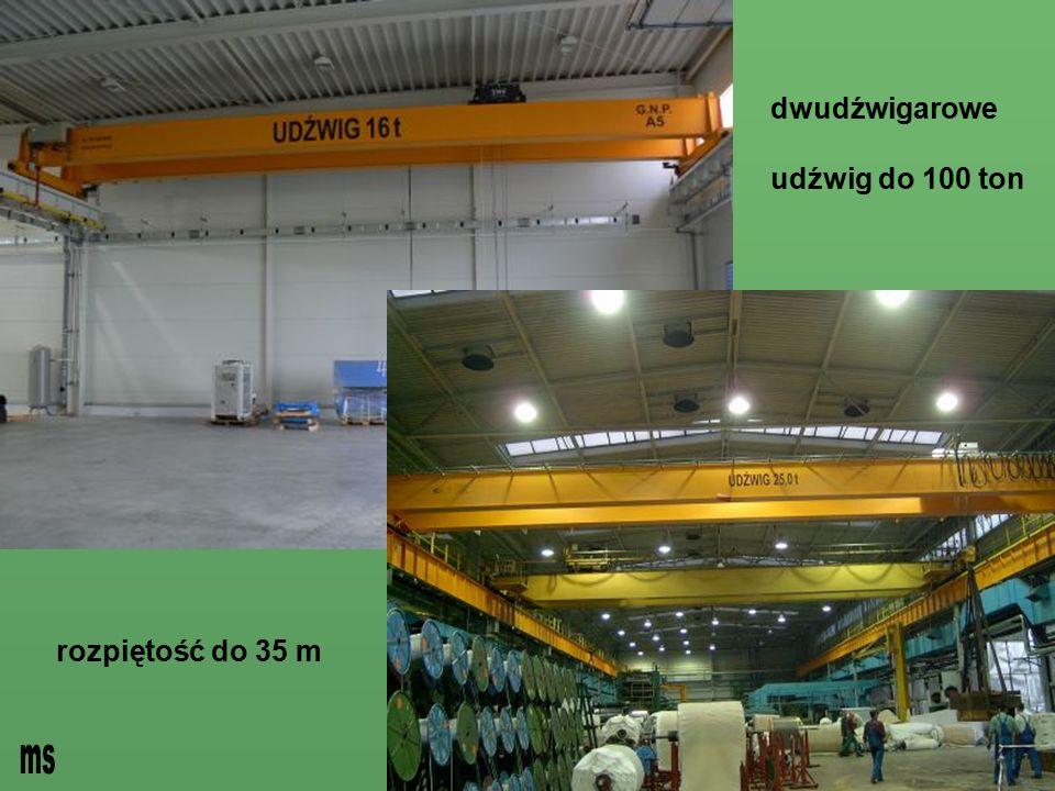 dwudźwigarowe udźwig do 100 ton rozpiętość do 35 m ms