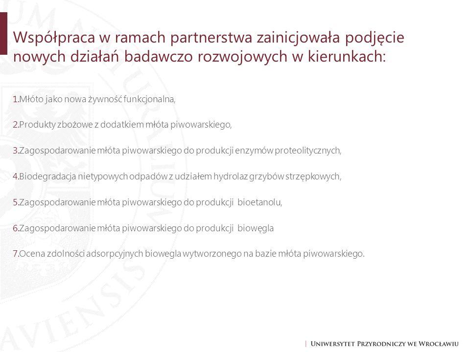 Współpraca w ramach partnerstwa zainicjowała podjęcie nowych działań badawczo rozwojowych w kierunkach:
