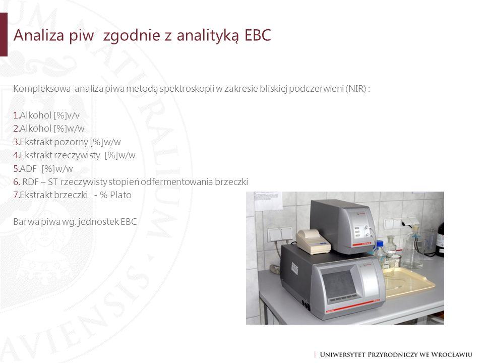 Analiza piw zgodnie z analityką EBC