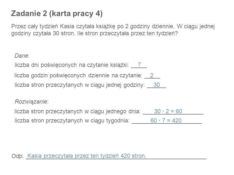 Zadanie 2 (karta pracy 4)