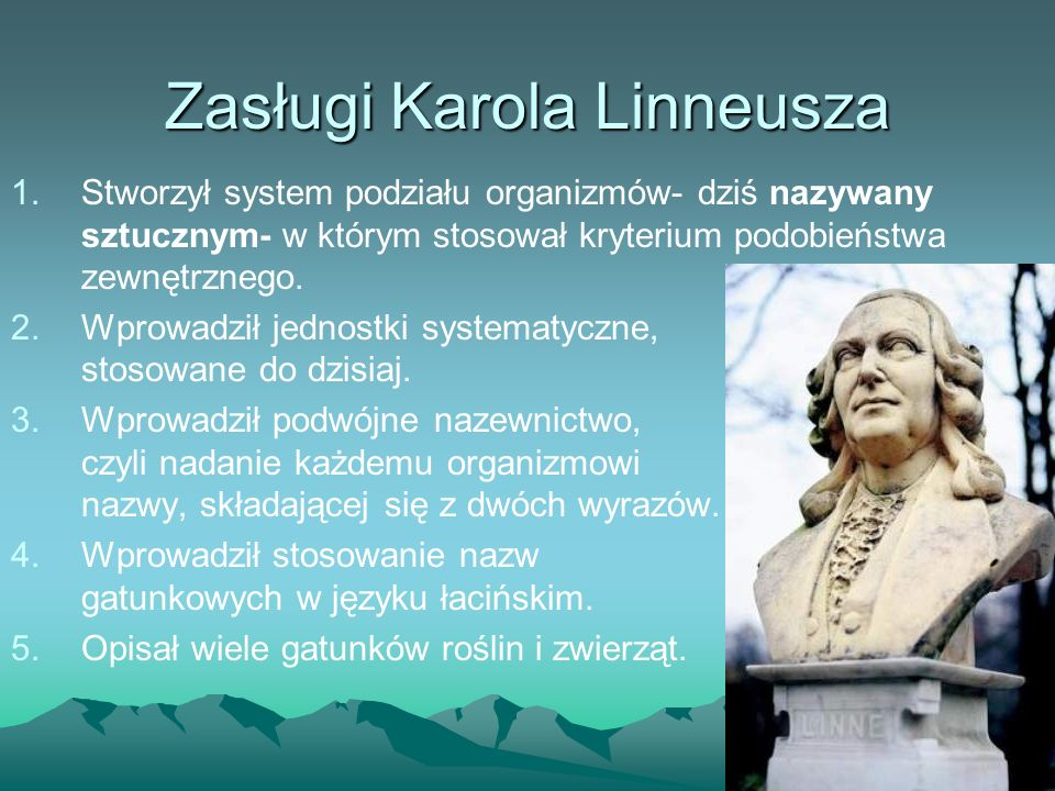 Zasługi Karola Linneusza