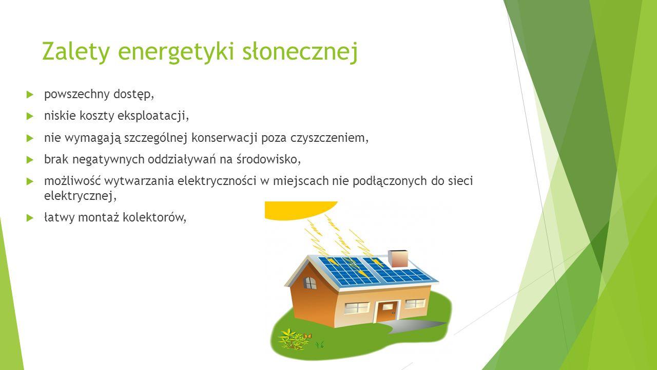 Zalety energetyki słonecznej