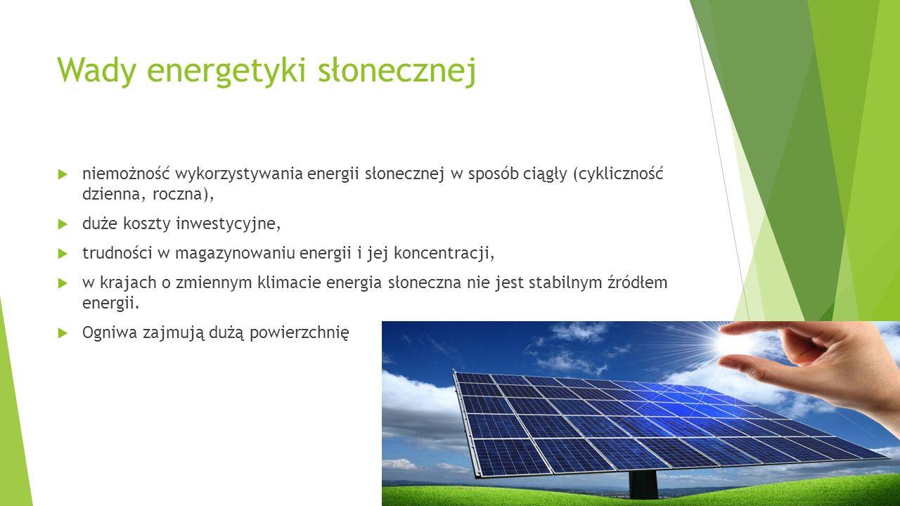 Wady energetyki słonecznej
